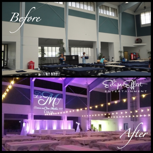 Sangha Hall Before and After